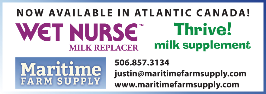 Now available in Atlantic Canada! Wet Nurse Milk Replacer. Thrive milk supplement